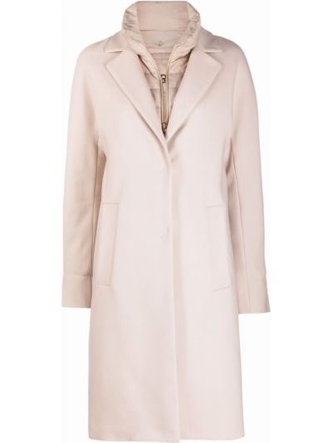 Бежевое пальто с карманами Herno