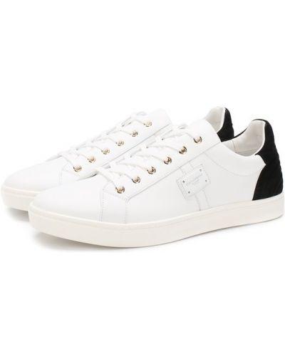 Белые кеды Dolce & Gabbana