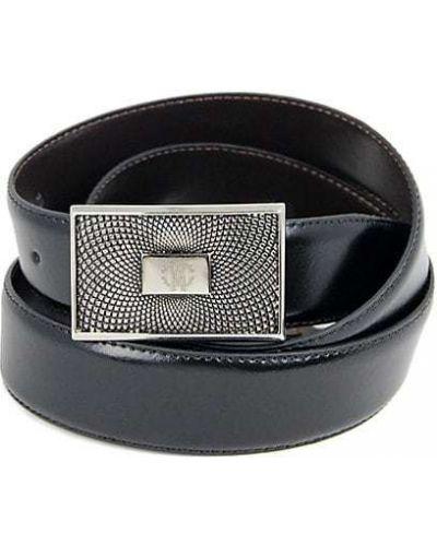 Коричневый кожаный ремень с пряжкой Roberto Cavalli