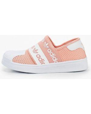 Мокасины розовый текстильные Adidas Originals