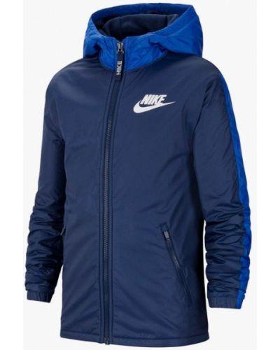 Утепленная синяя куртка Nike