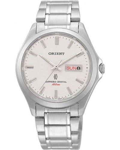 Часы водонепроницаемые с подсветкой белые Orient