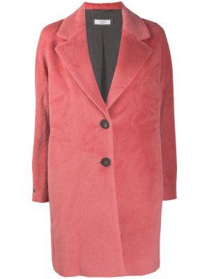 С рукавами розовое пальто классическое из альпаки Peserico