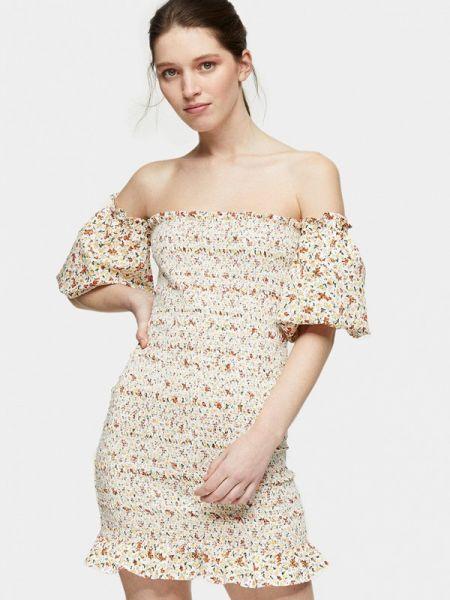 Бежевое платье Topshop