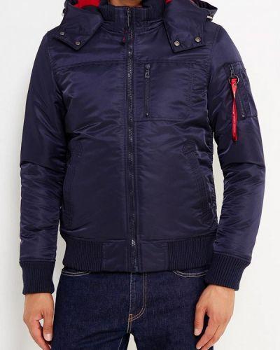 Утепленная куртка демисезонная синяя Young & Rich