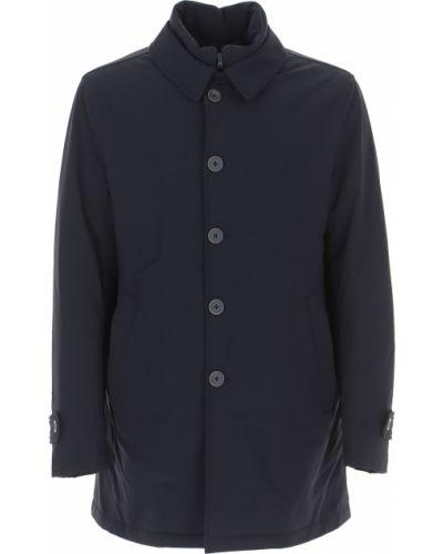 Niebieski puchaty kurtka Herno