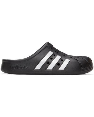 Czarne chodaki srebrne w paski Adidas Originals