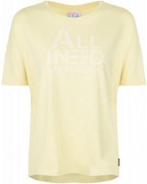 Хлопковая футбольная свободная спортивная футболка свободного кроя Merrell