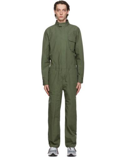 Zielony kombinezon z mankietami z kieszeniami spodnie sztruksowe Engineered Garments