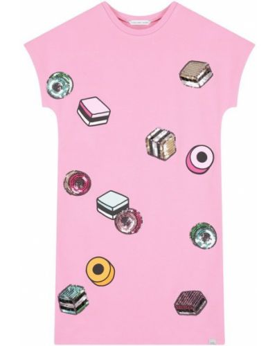 Платье мини розовое с пайетками Marc Jacobs