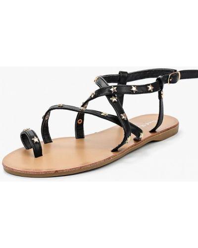Черные сандалии резиновые Sweet Shoes