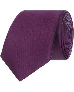 Krawat z jedwabiu - fioletowy Monti
