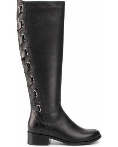 Сапоги на каблуке - черные Maccioni