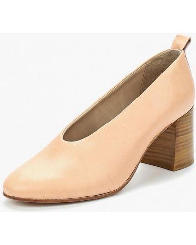 Розовые кожаные туфли Marc O'polo