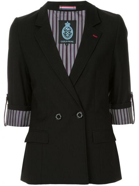 Классическая черная куртка с лацканами на пуговицах Guild Prime