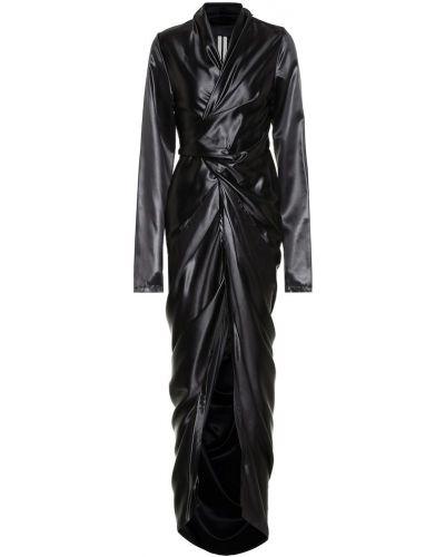 Czarny długo sukienka za pełne Rick Owens