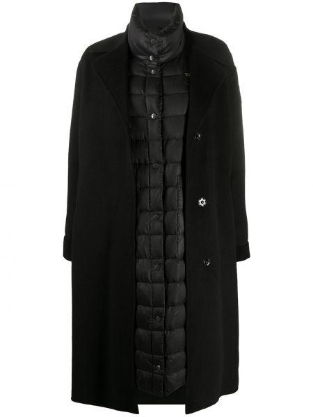 Черное стеганое пуховое длинное пальто Blauer