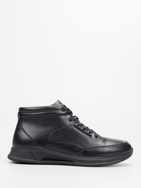 Кожаные ботинки - черные Braska