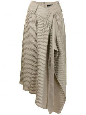 Beżowy asymetryczny z wysokim stanem spódnica Rokh