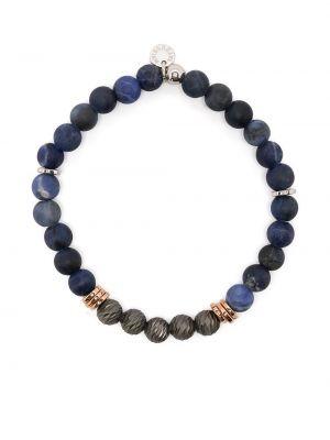 Niebieska bransoletka z koralikami srebrna Tateossian
