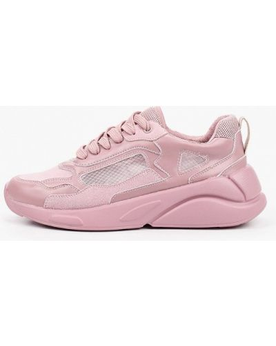 Розовые кожаные кроссовки Keddo