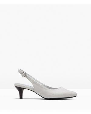 Туфли на каблуке с открытой пяткой Bonprix