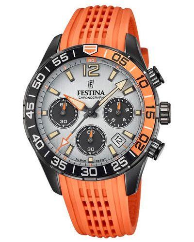 Pomarańczowy zegarek sportowy Festina