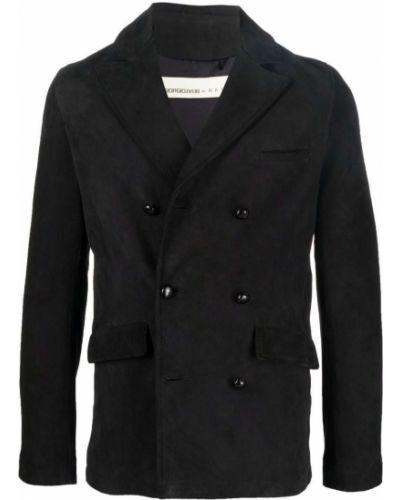 Черный пиджак двубортный Giorgio Brato