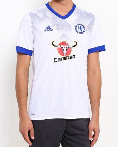 Белая спортивная футболка Adidas