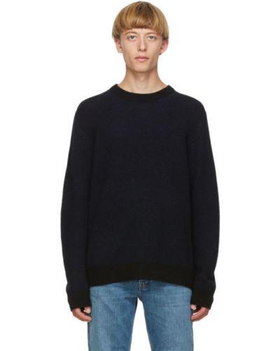 Черный кашемировый длинный свитер с воротником Acne Studios