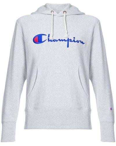 Серая толстовка с вышивкой Champion