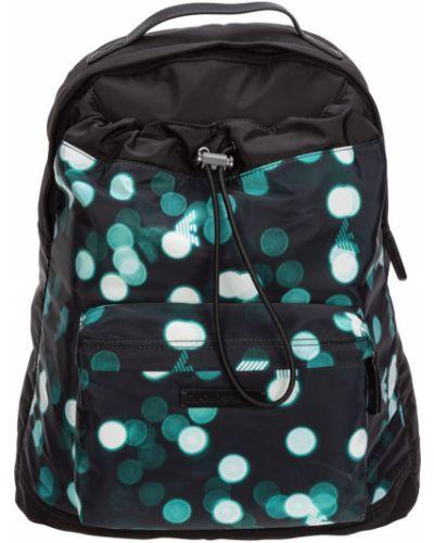 Czarny plecak na laptopa szmaragd Emporio Armani