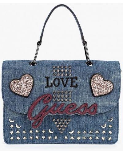 Синяя сумка через плечо Guess