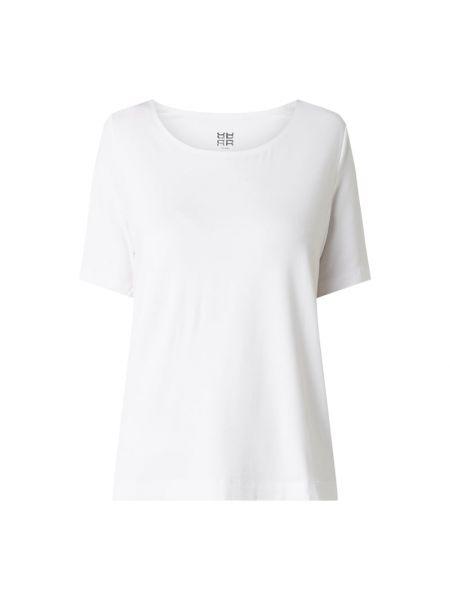 Biały t-shirt z wiskozy Riani