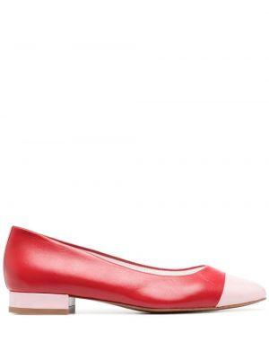 Кожаные красные туфли на каблуке Carel