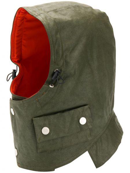 Zielony kapelusz bawełniany z kapturem Raglan United
