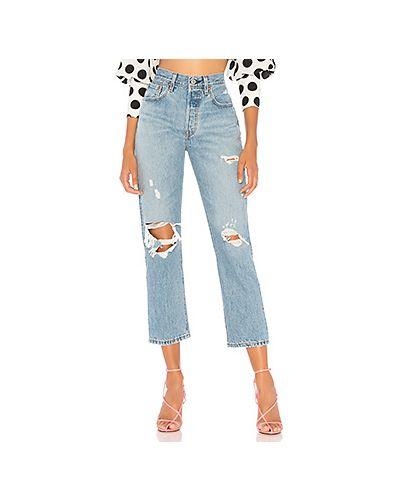 Укороченные джинсы с эффектом потертости синие Levi's®