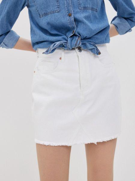 Джинсовая юбка - белая Tiffosi