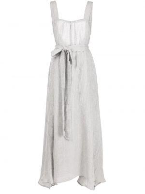 Платье миди расклешенное - серое Le Kasha