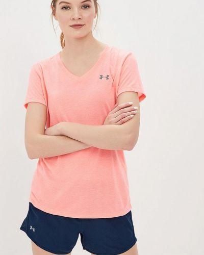 Розовая футбольная футболка Under Armour