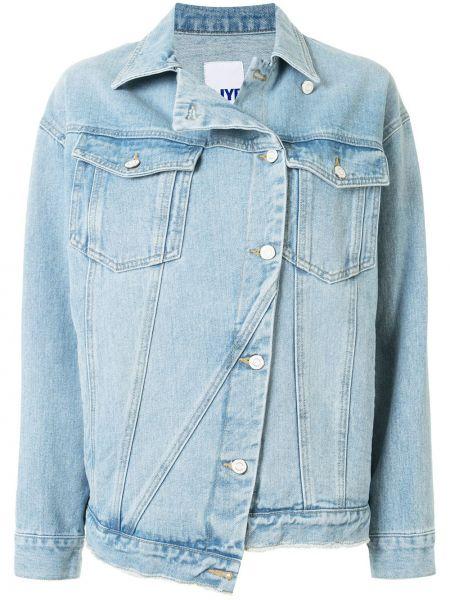 Хлопковая синяя джинсовая куртка с манжетами Sjyp