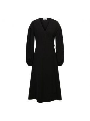 Платье из полиэстера - черное Ganni