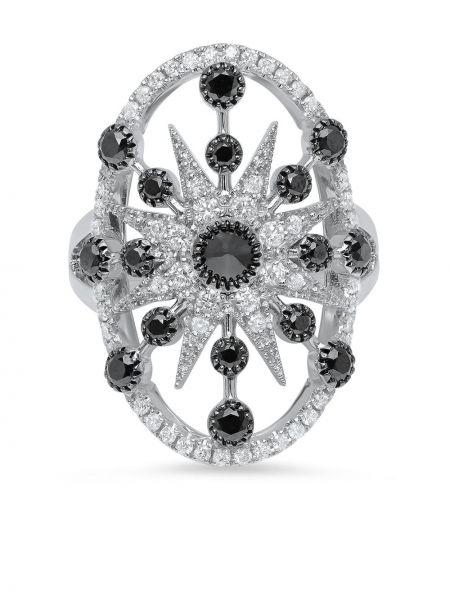 Z rombem biały pierścień z diamentem przeoczenie Colette