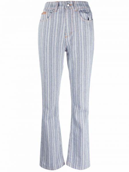 Хлопковые джинсы с нашивками на молнии Alexa Chung