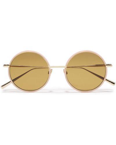 Złote różowe okulary Acne Studios