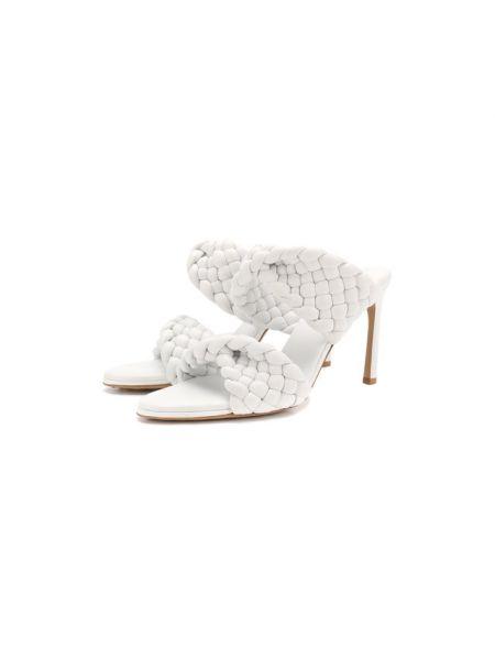 Кожаные белые мюли с подкладкой Bottega Veneta