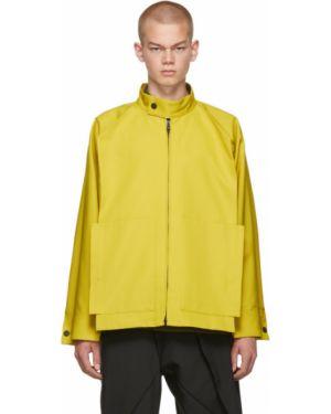 Черная длинная куртка с манжетами с карманами с воротником 132 5. Issey Miyake