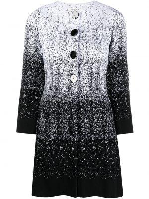 Ватное белое вязаное длинное пальто Charlott