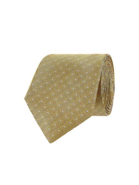 Klasyczny żółty krawat z jedwabiu Christian Berg Men