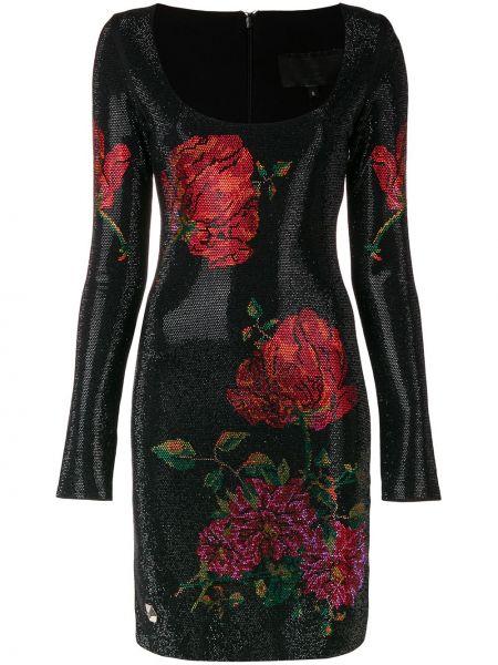 Платье с цветочным принтом на молнии Philipp Plein
